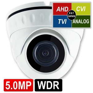 OPAX-1112 5 MP (2592x1944) 4 IN 1 HD 3.6MM SABİT LENSLİ AHD DOME KAMERA