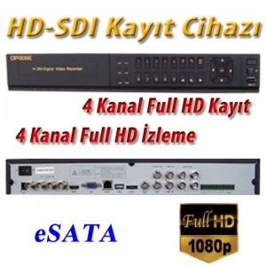 4 KANAL HD-SDI 1080P FULL HD KAYIT CİHAZI