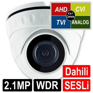 OPAX-1122 2 MP 1080P 4 IN 1 HD 3.6MM LENS WDR SESLİ AHD DOME KAMERA